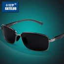Sun glasses Gun color frame black gray chip (polarized light car clip) black frame black gray chip (polarized light car clip) male Catro Resin Zhejiang