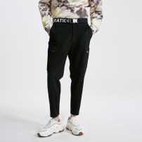 Casual pants Jack Jones Youth fashion E40 black routine Ninth pants Other leisure Self cultivation High shot youth Basic public 2019 middle-waisted Little feet Viscose fiber (viscose fiber) 66% polyamide fiber (polyamide fiber) 30% polyurethane elastic fiber (spandex) 4% Tapered pants Solid color