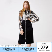 skirt Winter 2020 155/60A/XSR,160/64A/SR,165/68A/MR,170/72A/LR,175/76A/XLR,180/80A/XXLR S59 black Middle-skirt Versatile High waist other Solid color 25-29 years old Vero Moda zipper