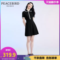 Dress Summer 2020 S M L Short skirt singleton  Short sleeve commute High waist Socket routine Others 25-29 years old Peacebird Simplicity 51% (inclusive) - 70% (inclusive) cotton Cotton 64.8% polyester 35.2% Same model in shopping mall (sold online and offline)