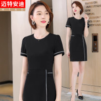 Dress Summer 2021 Black (dress) blue (dress) S M L XL 2XL 3XL 4XL Middle-skirt singleton  Short sleeve commute Crew neck High waist other other routine Others 25-29 years old Type H Mrtteadis / Andy Mette Simplicity printing GA6139KR5020CH More than 95% other polyester fiber
