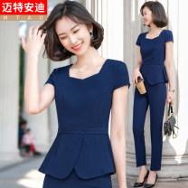 Fashion suit Summer 2021 S M L XL 2XL 3XL 4XL Black (suit) black (suit + pants) black (suit + skirt) black (suit + pants + skirt) blue (suit) blue (suit + pants) blue (suit + skirt) blue (suit + pants + skirt) white (suit) white (suit + skirt) 25-35 years old Mrtteadis / Andy Mette GA6139KN967CH