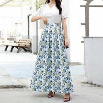 skirt Autumn 2020 S,M,L,XL,2XL,3XL 1090-34,1090-35,1090-36,1090-37,1090-38,1090-39,1090-40,1090-41,1090-42,1090-43 longuette Versatile High waist A-line skirt Decor Type A 35-39 years old 20200719-1 81% (inclusive) - 90% (inclusive) polyester fiber Pocket, print