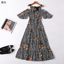 Dress Summer 2020 black and white S,M,L Other / other 31% (inclusive) - 50% (inclusive)