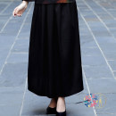 skirt Autumn 2020 Small average, big average black Mid length dress Versatile Natural waist A-line skirt Solid color Type A Jingxiang 51% (inclusive) - 70% (inclusive) Wool Triple Door wool