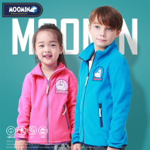 Sweater / sweater Other / other Rose, dark blue, sky blue, purple neutral 100cm,110cm,120cm,130cm,140cm,150cm,160cm spring and autumn nothing leisure time Zipper shirt thickening There are models in the real shooting other Solid color Polyester 100%