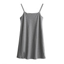 Dress Summer 2021 Gray, black Average size Middle-skirt singleton  Sleeveless commute High waist Solid color Socket routine camisole 18-24 years old Korean version FC46 71% (inclusive) - 80% (inclusive) other