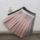 skirt Spring 2021 S,M,L White, gray, black, blue, pink Short skirt commute High waist Pleated skirt Solid color Type A 18-24 years old FA42 71% (inclusive) - 80% (inclusive) other Zipper, fold Korean version