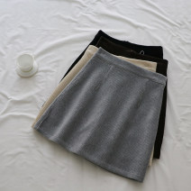 skirt Winter 2020 S,M,L,XL Short skirt commute High waist A-line skirt Solid color Type A 18-24 years old Z49 71% (inclusive) - 80% (inclusive) corduroy other zipper Korean version