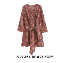 Dress Spring 2021 Decor 3366 S,M,L Short skirt singleton  Short sleeve street V-neck middle-waisted Decor Socket other routine 31% (inclusive) - 50% (inclusive) other Cellulose acetate Europe and America