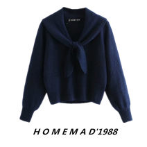 sweater Winter 2020 S,M,L Navy 4661 Long sleeves Socket singleton  have cash less than that is registered in the accounts cotton 31% (inclusive) - 50% (inclusive) Regular street routine Solid color Straight cylinder Keep warm and warm