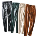 Casual pants Black 1505, beige 1505, coffee 1505 XS,S,M,L Winter 2020 Pencil pants High waist street thickening 31% (inclusive) - 50% (inclusive) PU leather Europe and America