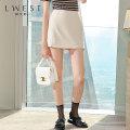skirt Summer 2020 S M L white Short skirt High waist A-line skirt Solid color 25-29 years old LDMQ02902582-582622 71% (inclusive) - 80% (inclusive) L. West / longvinstein polyester fiber zipper Polyester 75% viscose 20% polyurethane elastic 5%