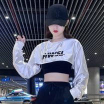 National costume / stage costume Autumn 2020 306 Pearl White navel top, black vest, 1019 overalls S,M,L,XL 18-25 years old nylon 96% and above