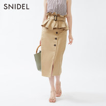 skirt Autumn of 2019 01 Middle-skirt High waist More than 95% SNIDEL other Other 100% Same model in shopping mall (sold online and offline)