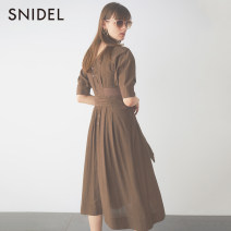 Dress Spring 2020 Yellow purple brown 01 Mid length dress 25-29 years old SNIDEL SWFO201043 More than 95% other Other 100% Same model in shopping mall (sold online and offline)