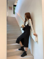 Dress Autumn 2020 black S, M Middle-skirt singleton  commute camisole Other / other Korean version 51% (inclusive) - 70% (inclusive) polyester fiber