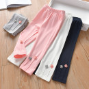trousers Zhou dada female 90cm,100cm,110cm,120cm,130cm Gray, white, pink, navy spring and autumn trousers leisure time No model Leggings Leather belt middle-waisted Don't open the crotch Class B 18 months, 2 years old, 3 years old, 4 years old, 5 years old, 6 years old Chinese Mainland