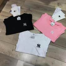 T-shirt Pink, black, white Other / other S / 90, M / 100, L / 110, XL / 120, XXL / 130 neutral summer Short sleeve Crew neck cotton Solid color Cotton 100% Class A Seven, three, six, two, five, four Chinese Mainland