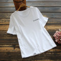 T-shirt White, black M, L Summer 2021 Short sleeve Crew neck Straight cylinder Regular routine commute cotton 86% (inclusive) -95% (inclusive) 30-34 years old Korean version other Solid color yoko girl printing