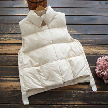 Vest Winter 2020 Off white, black M, L routine stand collar commute Solid color Single breasted 30-34 years old yoko girl 96% and above polyester fiber Silk like cotton
