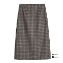 skirt Spring 2021 S,M,L Grey mist in the forest, grey apricot in the cool Xiao Lu longuette Retro High waist skirt lattice Type A 25-29 years old 8H31 31% (inclusive) - 50% (inclusive) other other zipper