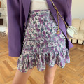 skirt Spring 2021 S,M,L violet Short skirt Sweet High waist Ruffle Skirt Decor Type A AB032507 31% (inclusive) - 50% (inclusive) Alice&W polyester fiber Countryside