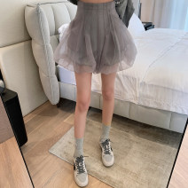 skirt Spring 2021 S,M,L Gray, black Short skirt commute High waist A-line skirt Solid color Type A 31% (inclusive) - 50% (inclusive) Alice&W polyester fiber Korean version