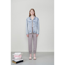 short coat Winter 2020 XS,S,M,L,XL B25 light denim Long sleeves singleton  easy Single breasted Xijia 96% and above cotton
