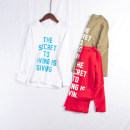 Sweater / sweater MOfEA MOCER Army green, white, red neutral 130cm,140cm,150cm,160cm,170cm spring and autumn nothing cotton letter Cotton liner