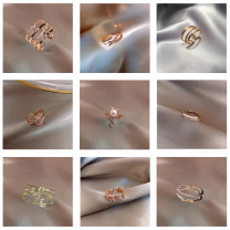 Ring / ring Alloy / silver / gold RMB 1.00-9.99 3Q brand new goods in stock Japan and South Korea female Fresh out of the oven Alloy inlaid artificial gem / semi gem Plants and flowers