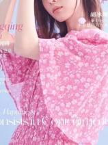 Dress Summer 2020 Pink flowers XS,S,M,L Mid length dress singleton  Short sleeve Sweet Ruili