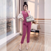 Fashion suit Spring 2021 S,M,L,XL Rose purple 25-35 years old Justvivi style