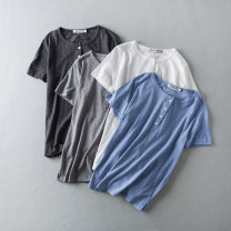 T-shirt S,M,L Short sleeve Crew neck Straight cylinder cotton 96% and above Other / other