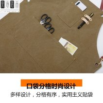 apron Sleeveless apron antifouling Korean version canvas Other topics Average size Belt crossing WQ + deep coffee other public yes coulorful