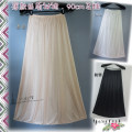 skirt Summer of 2019 Average size Light rice white (skirt length 90cm), black (skirt length 90cm), apricot (skirt length 90cm), light rice white (skirt length 90cm) 3M swing longuette Versatile Natural waist other Solid color Type A More than 95% Silk and satin polyester fiber