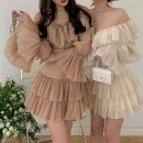 Fashion suit Spring 2021 XS,S,M,L Elegant apricot, elegant light brown 18-25 years old Here comes Bingbing 51% (inclusive) - 70% (inclusive) polyester fiber