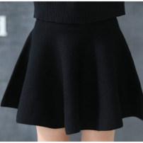 skirt 100cm,110cm,120cm,130cm,140cm,150cm,160cm,170cm Black, red Nine Leaves female Cotton 90% other 10% winter skirt princess Solid color Pleats cotton q3012 Class B