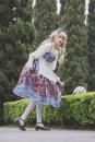 Fashion suit Autumn of 2018 S,M,L Apricot jsk, dark blue jsk, apricot KC, dark blue KC, white lace apron infanta