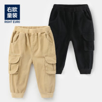 trousers Righteuro male 90CM,95CM,100CM,110CM,120CM,130CM Khaki, black spring and autumn trousers leisure time No model Casual pants Leather belt middle-waisted Cotton blended fabric Open crotch Other 100% U11689 2, 3, 4, 5, 6, 7, 18 months