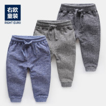 trousers Righteuro male 2-3 / 98, 95, 3-4 / 104, 100, 4-5 / 110, 110, 6-7 / 122, 120, 7-8 / 128, 130 Dark grey, blue, grey spring and autumn trousers leisure time No model Casual pants Leather belt middle-waisted Cotton blended fabric Don't open the crotch Cotton 73.5% polyester 26.5% U5928