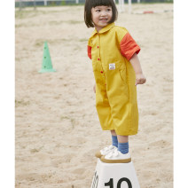 Jumpsuit / climbing suit / Khaki Other / other Class A neutral Contrast yellow (-) 110cm,120cm,80cm,90cm,100cm cotton 19s18 18 months, 2 years, 3 years