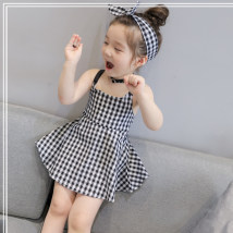 Dress As shown in the figure Other / other female 100-7 110-9 120-11 130-13 140-15 Other 100% summer Korean version lattice Class B