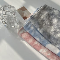 skirt Spring 2021 S,M,L,XL Grey, blue, pink Short skirt commute High waist A-line skirt Type A 18-24 years old 51% (inclusive) - 70% (inclusive) other cotton tie-dyed Korean version