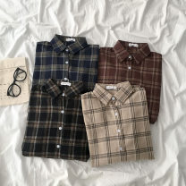 shirt Average size Spring 2021 cotton 51% (inclusive) - 70% (inclusive) Long sleeves commute Regular Polo collar shirt sleeve 18-24 years old Korean version