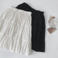 skirt Spring 2021 Average size Black, white Short skirt commute High waist A-line skirt Solid color Type A 18-24 years old More than 95% other polyester fiber fold Korean version