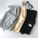 Casual pants Black, grey, apricot Average size Summer 2021 trousers Haren pants High waist commute routine 18-24 years old 96% and above cotton Korean version pocket cotton