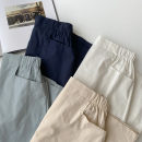 skirt Spring 2021 Average size Navy, blue, apricot, white Mid length dress commute High waist A-line skirt Solid color Type A 18-24 years old More than 95% other cotton zipper Korean version