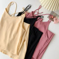 Dress Spring 2021 Black, apricot, pink Average size Mid length dress singleton  Sleeveless commute High waist Solid color Socket A-line skirt camisole 18-24 years old Type A Korean version backless More than 95% other polyester fiber