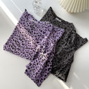 T-shirt Purple, grey Average size Summer 2021 Short sleeve Crew neck easy Regular routine commute cotton 51% (inclusive) - 70% (inclusive) 18-24 years old Korean version classic Leopard Print Leopard Print